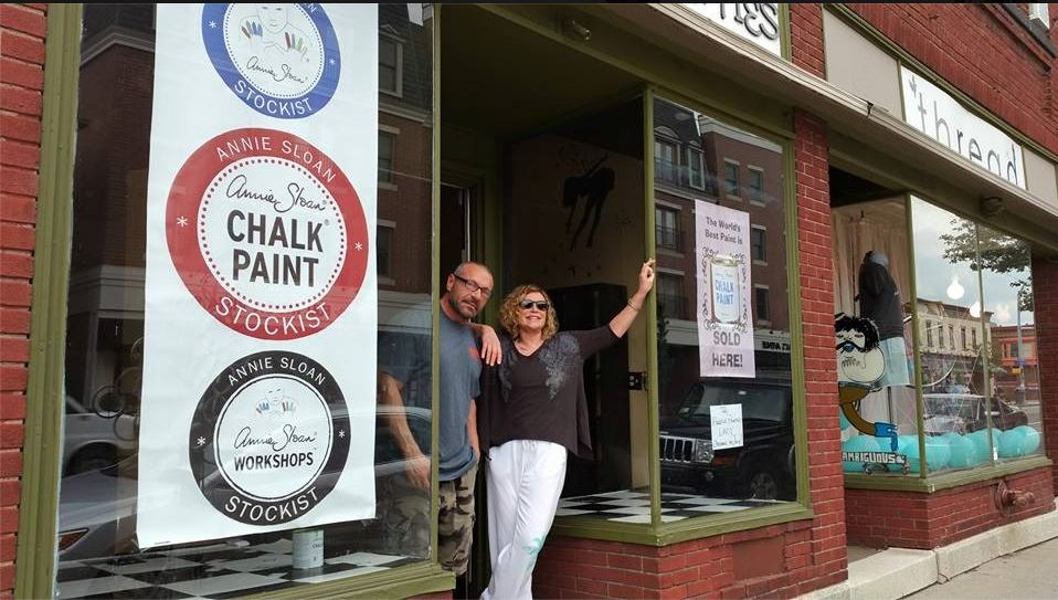 The Purple Painted Lady South Wedge Stye Chalk Paint Judy Bret