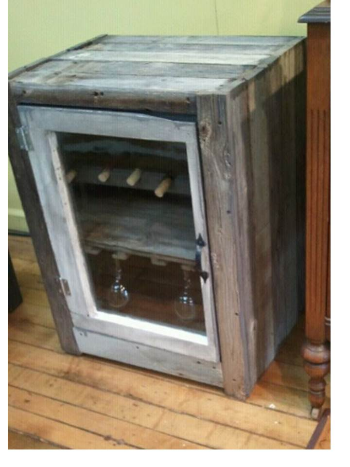 Rustic Wine Cabinet With Door Shut