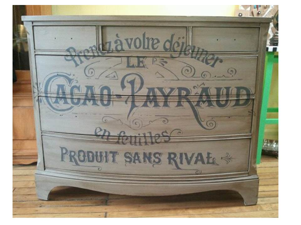 painted vintage furnitureTypography How does she do it  The Purple Painted Lady