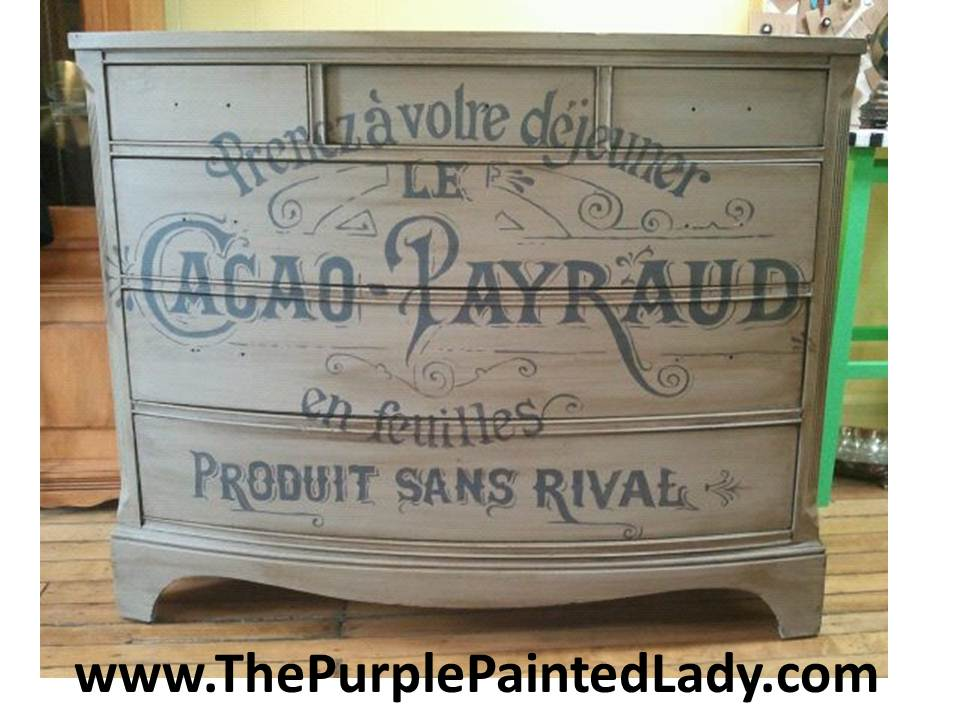 paint furnitureTypography How does she do it  The Purple Painted Lady
