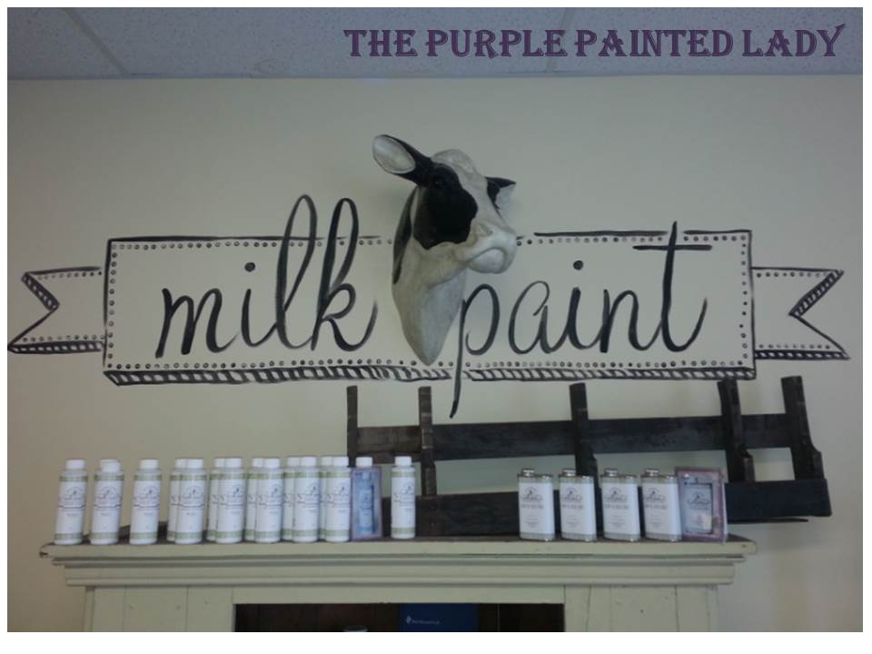 Milk Paint Logo over cow