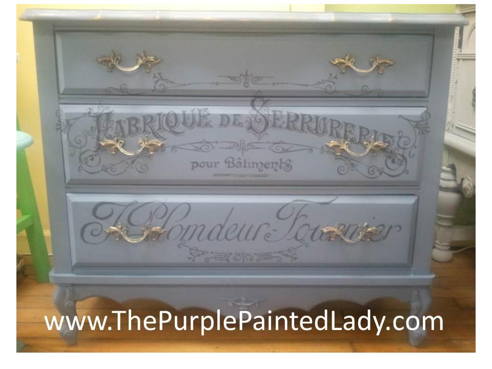 Old Violet Annie Sloan dresser
