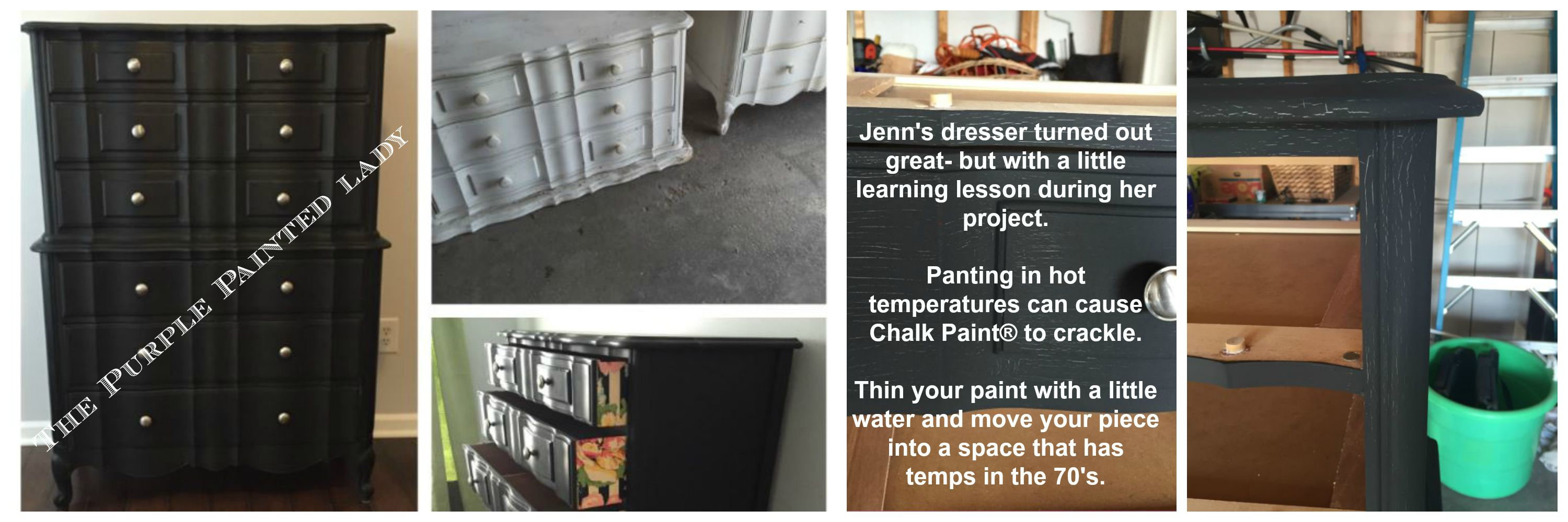 The Purple Painted Lady Jenn Pero Crackled Chalk Paint annie Sloan heat