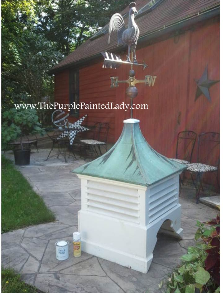 chalk paintr for my 125 year old cupola the purple With barn cupola for sale craigslist