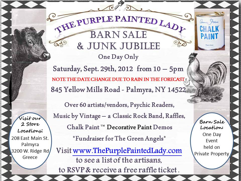 barn sale the purple painted lady