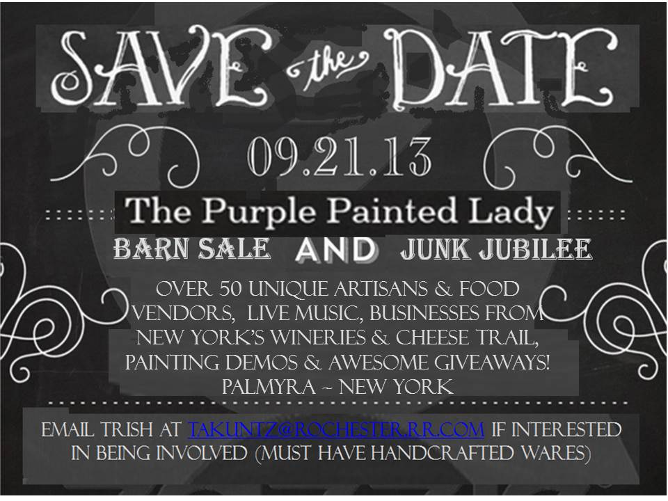Barn Sale SAVE THE DATE 2013