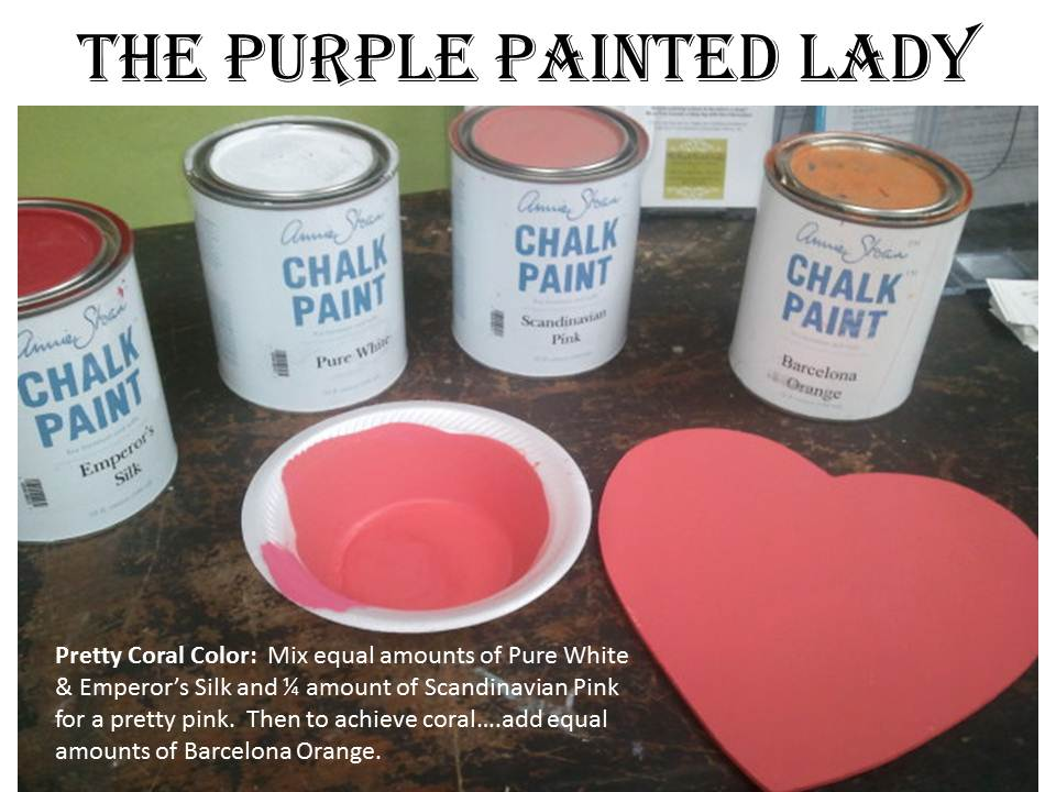 Coral Color Recipe The Purple Painted Lady