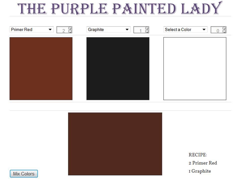 Primer Red Graphite Custom Color Mixer The Purple