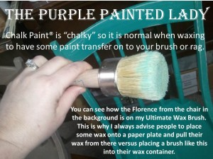 chalky paint transfer