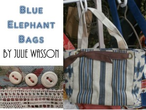 Blue Elephany Bags by Julie Wasson