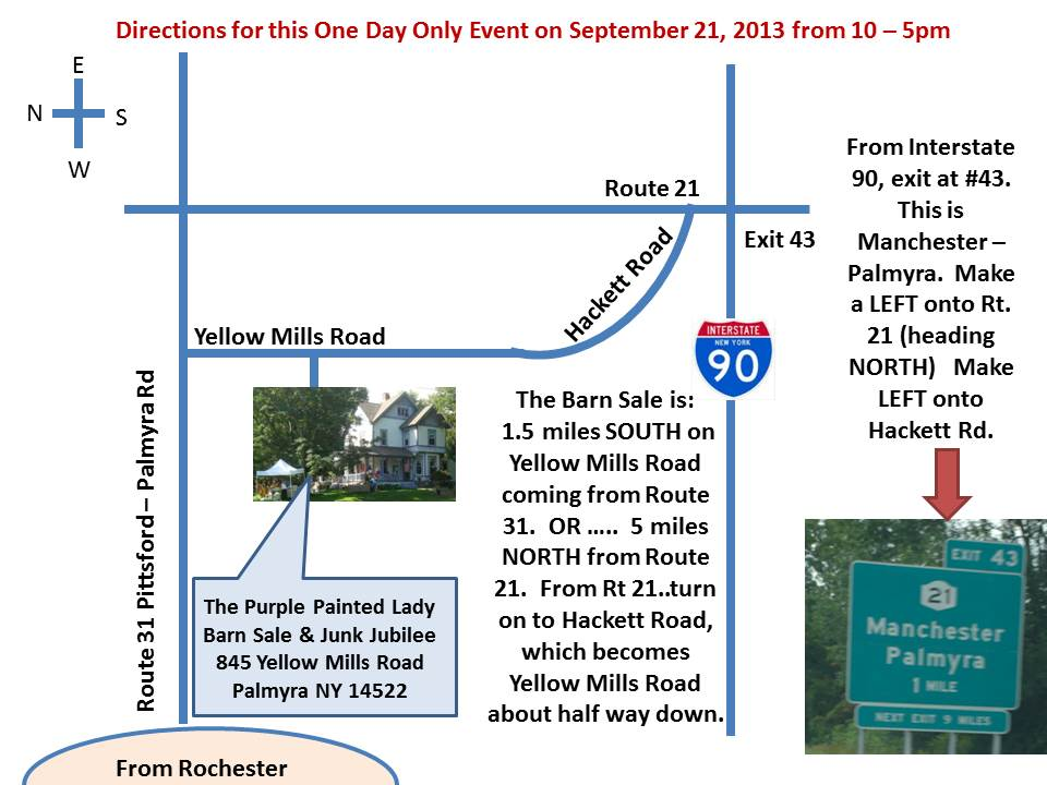 Map to the sale with correct directions