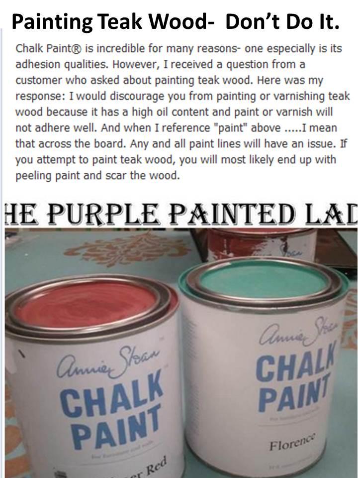 Painting Teak Wood