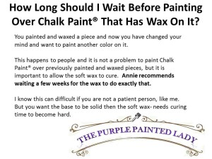 Painting Over Chalk Paint and Wax