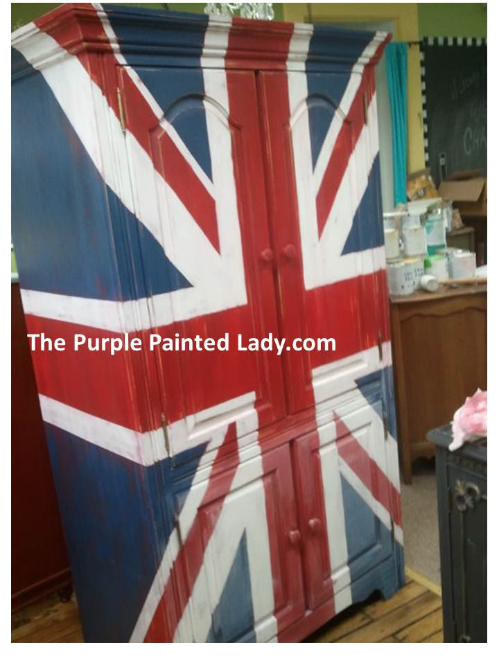 Painting a Union Jack with Chalk Paint  The Purple Painted Lady