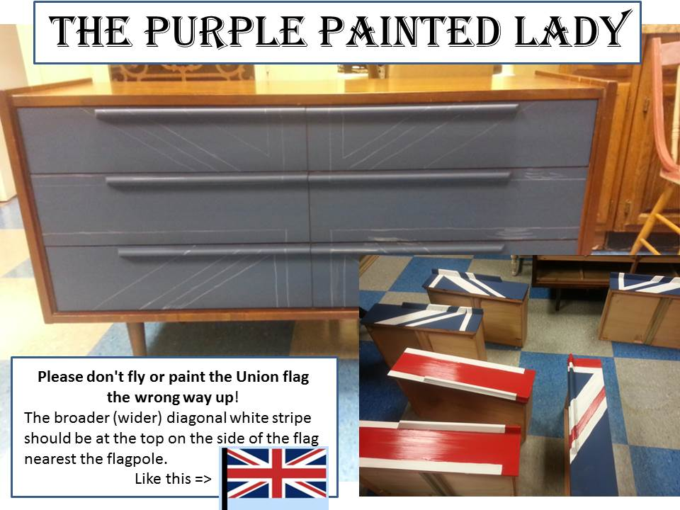 Union Jack Mid Century Dresser in process