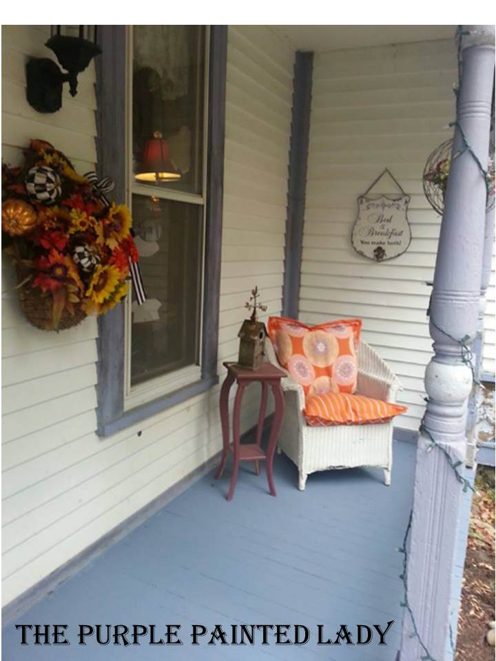 Kitchen porch painted