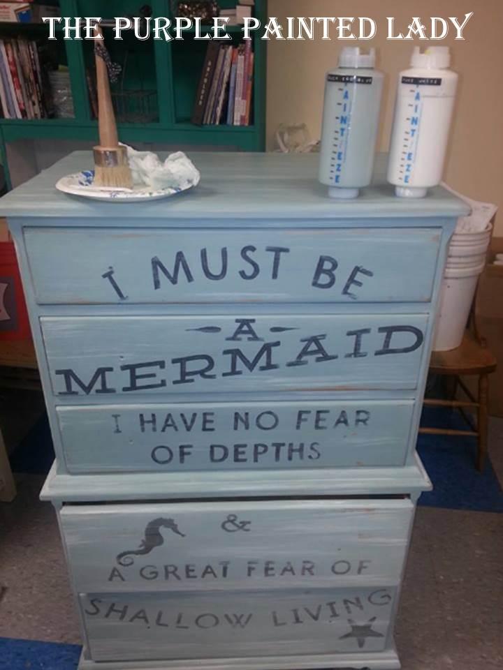 Paint EZE mermaid dresser waxing