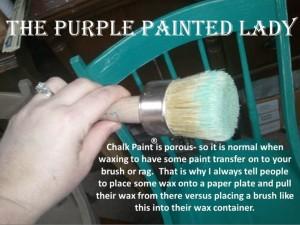 wax brush chalk paint transfer