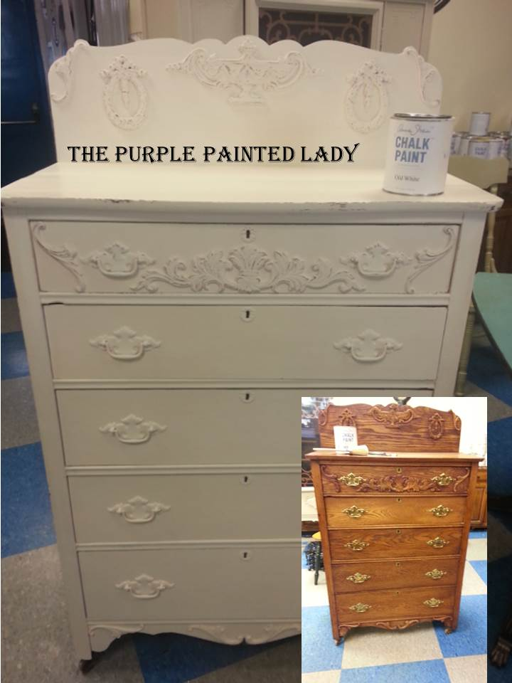Old White Dresser Before And After