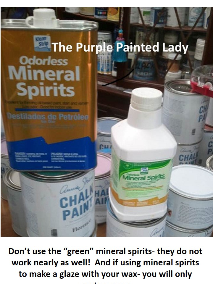 Mineral Spirits The Purple Painted Lady - Green vs Odorless regular