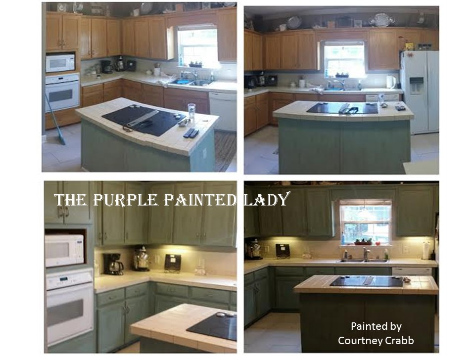 paint kitchen cabinets spray or brush white cost black painted my customer the purple lady