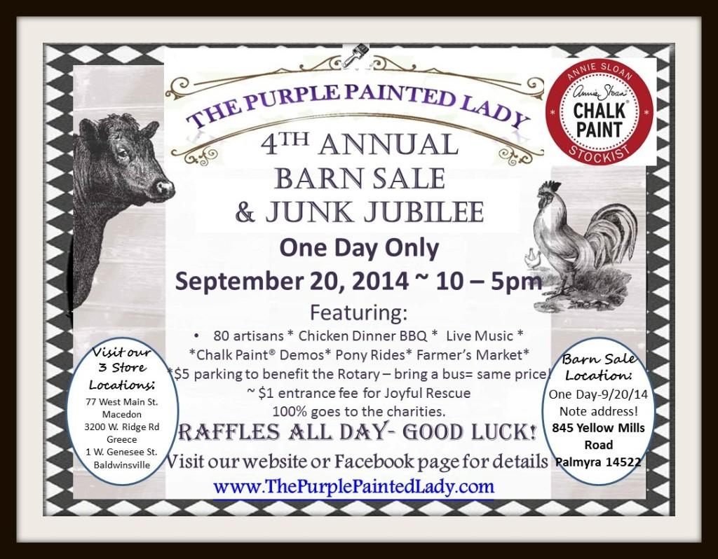 Barn Sale picmonkey 2014 585 Magazine Chalk Paint Logo The purple Painted Lady Farmer Market added
