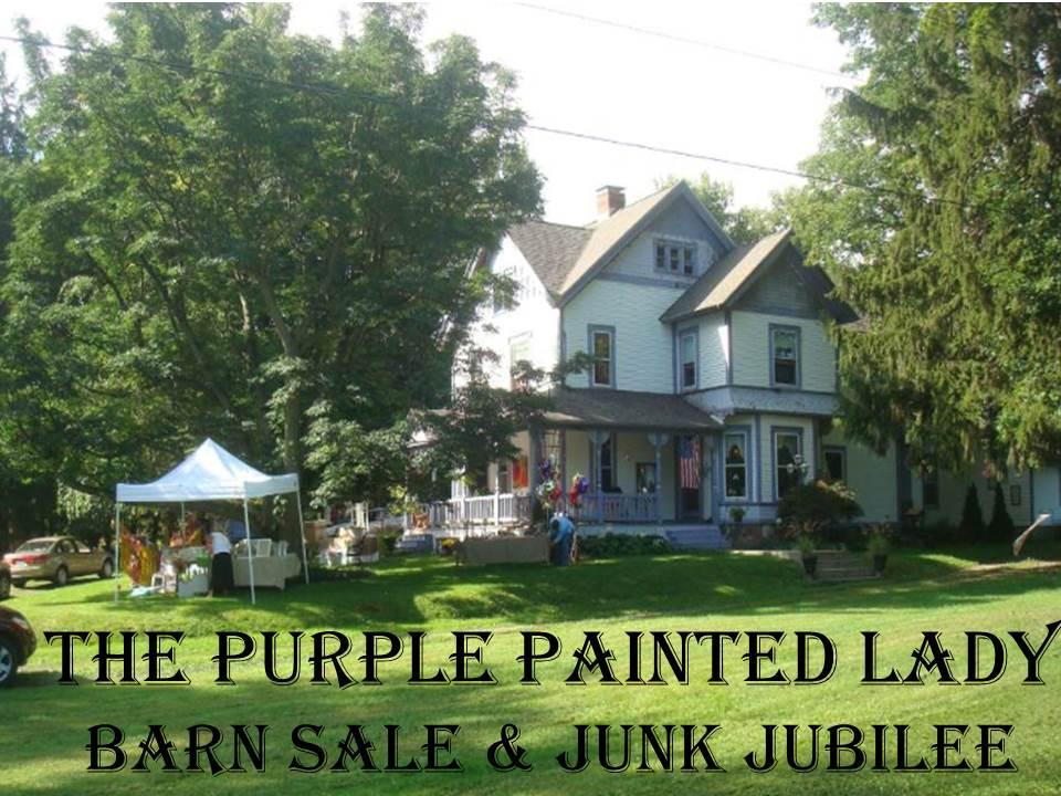 Purple Painted Lady Barn Sale house