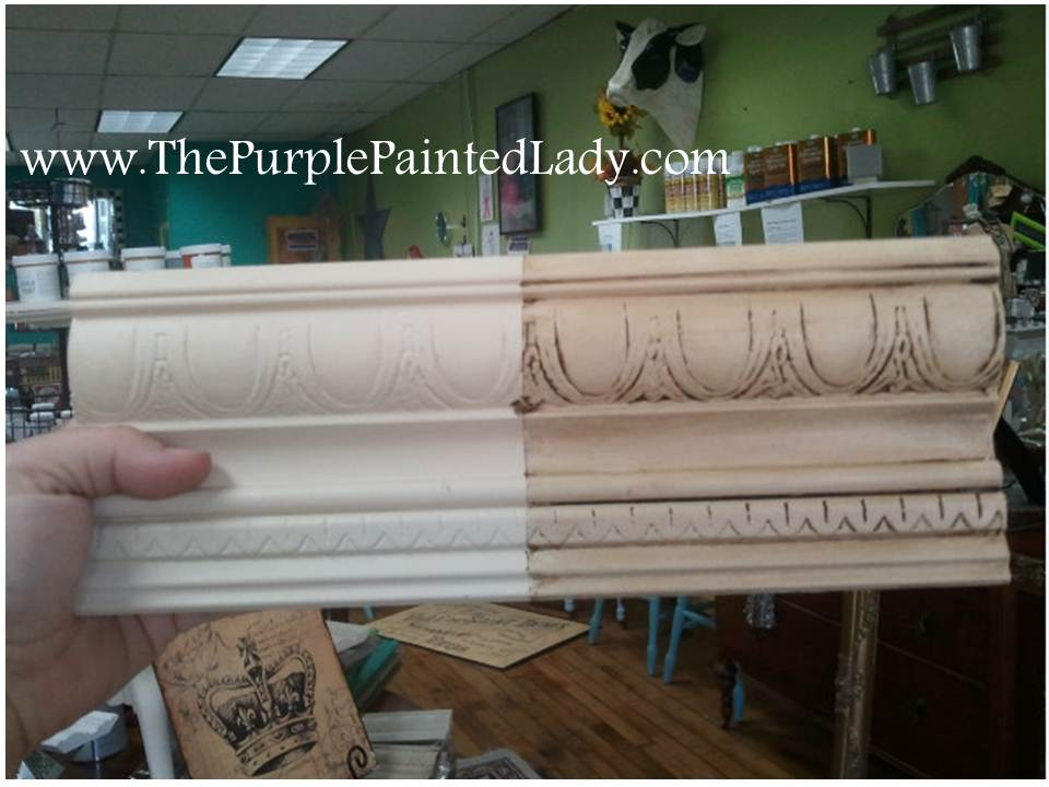Old White Sample Board - Sanding Chalk Paint® Before OR After Waxing? The Purple Painted Lady