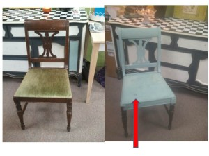 Painted Chair seat FABRIC
