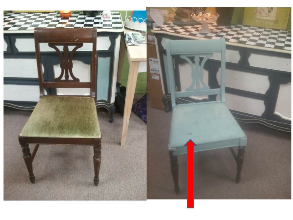 Painted Chair seat FABRIC & Using Chalk Paint® to Paint Your Couch or Wing Back Chair (Fabric or ...