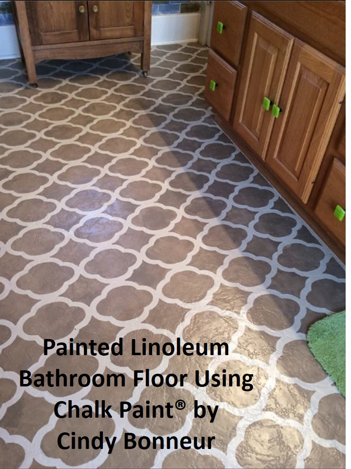 Painting a linoleum floor and the purple painted lady for Paint for linoleum floors in bathroom