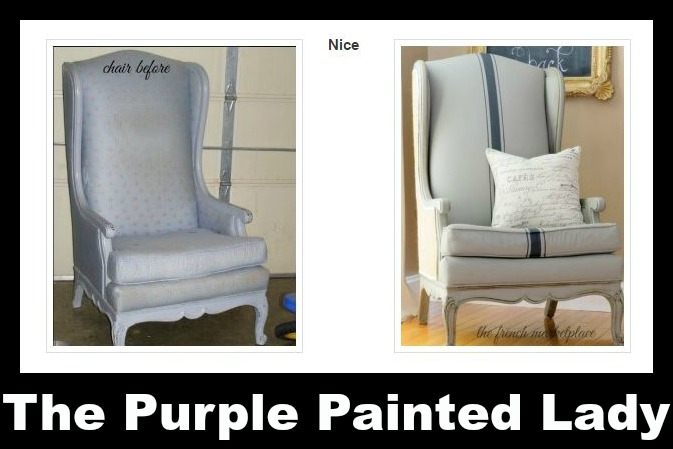 The Purple Painted Lady Before and After painted chairs Chalk Paint annie sloan