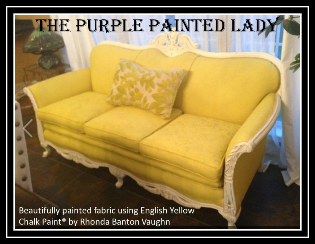 The Purple Painted Lady Painted Chalk Paint Fabric Couch Rhonda Banton Vaughn English Yellow picmonkey