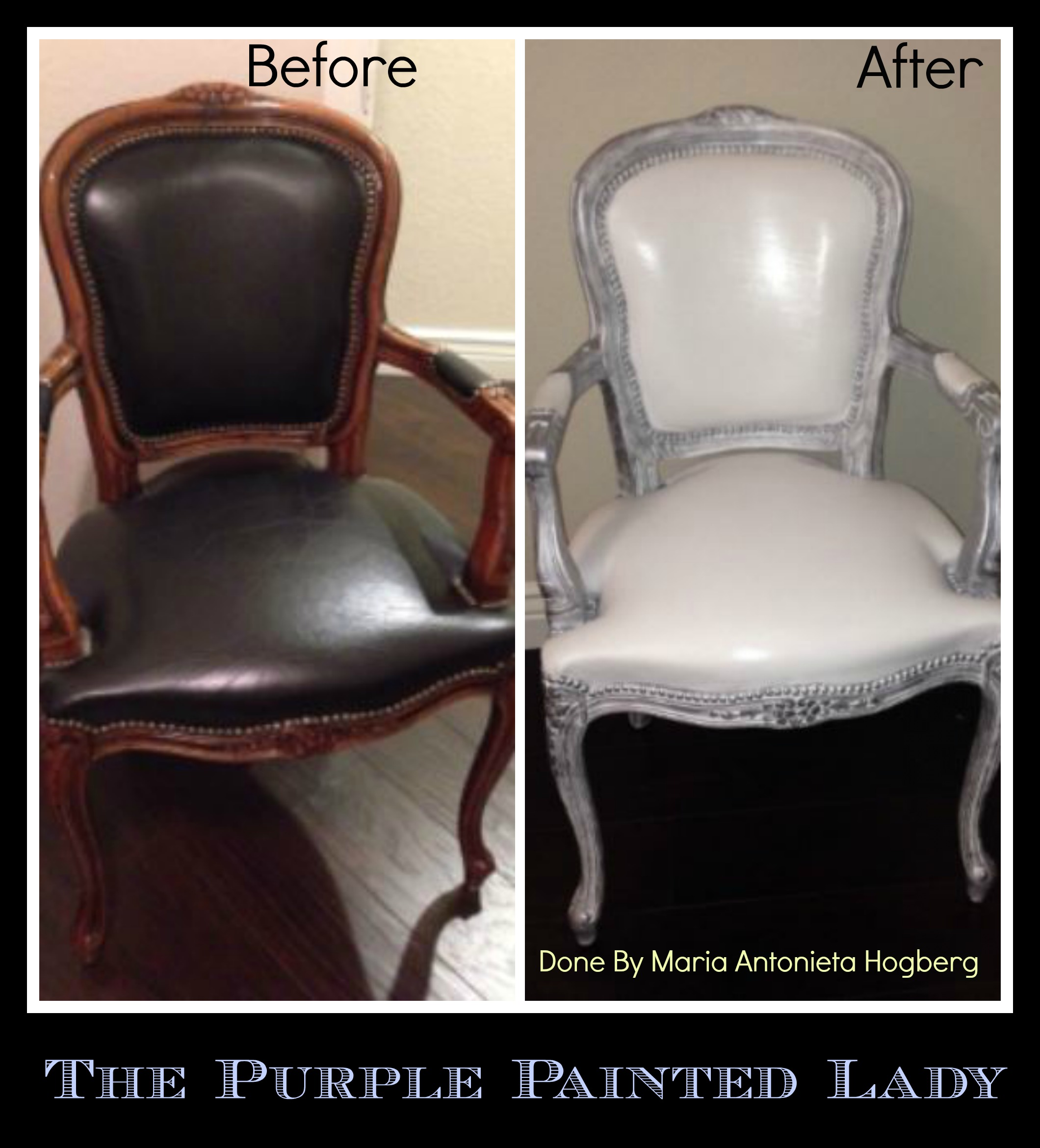the purple painted lady chalk paint painting leather maria antonieta h. Black Bedroom Furniture Sets. Home Design Ideas