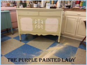 Versailles Antoinette dresser The Purple Painted Lady with dust