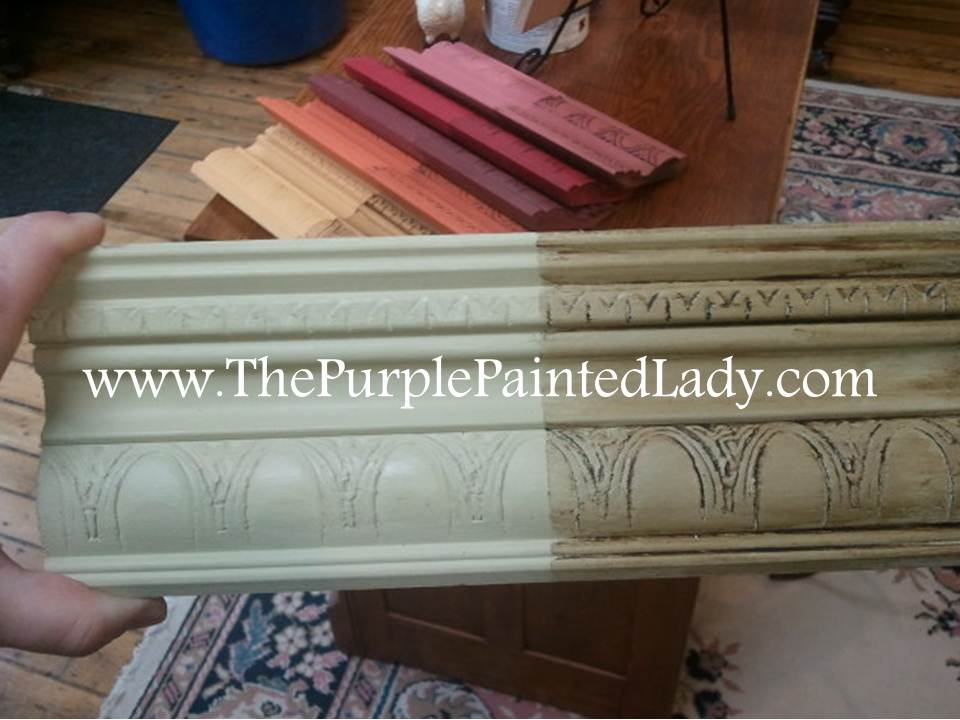 Versailles Sample Board - Sanding Chalk Paint® Before OR After Waxing? The Purple Painted Lady