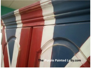 Annie sloan Union Jack Armoire close up