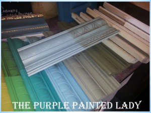 Duck Egg Blue on top of provence Olive chateau grey Sample boards Chalk Paint The Purple Painted Lady