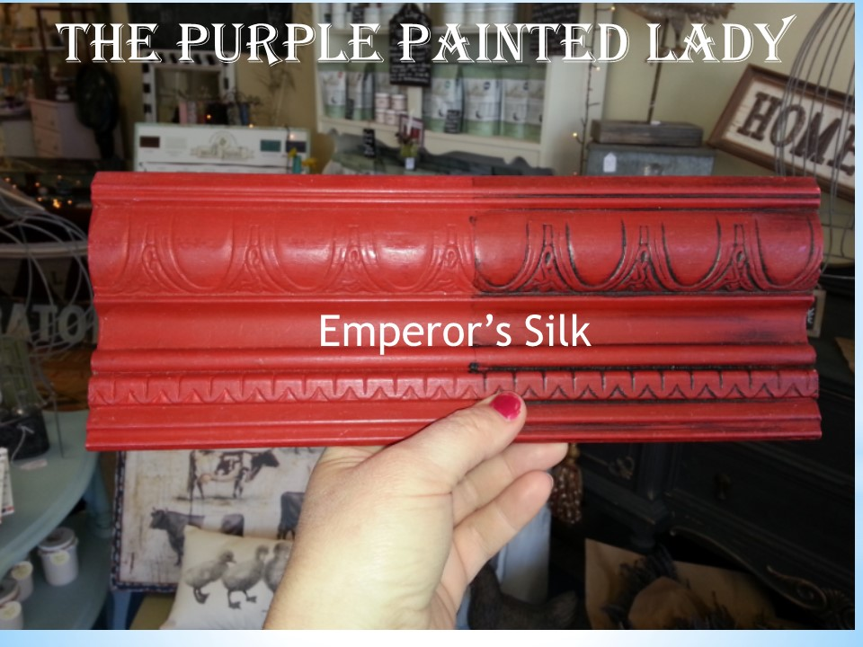 Emperor Silk Sample Board Comparison The Purple Painted Lady Chalk Paint