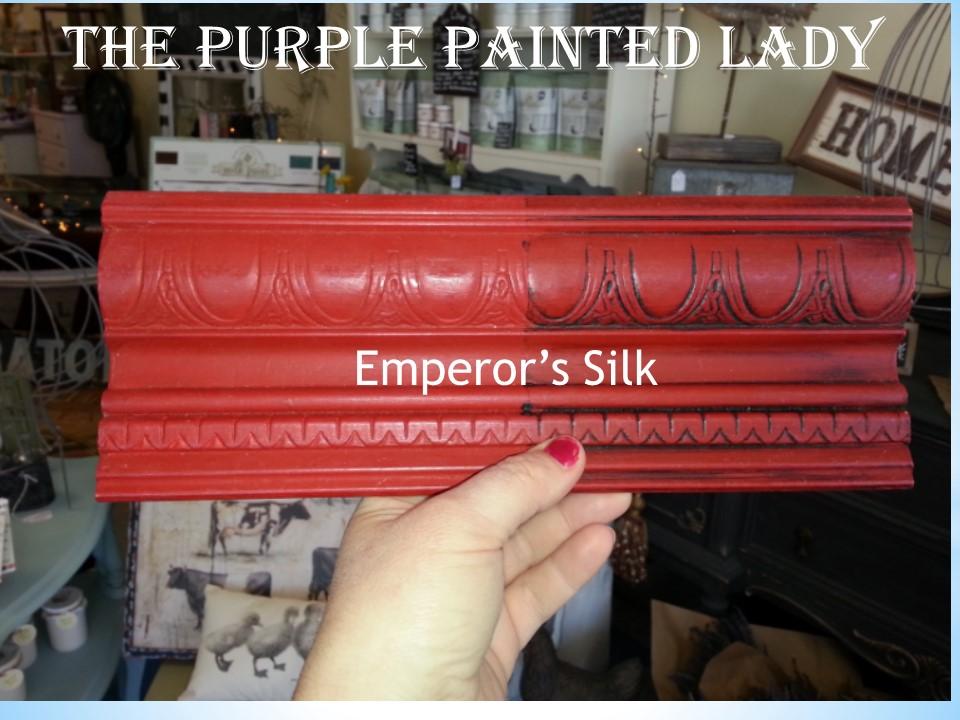 Emperor Silk Sample Board Comparison The Purple Painted Lady Chalk Paint