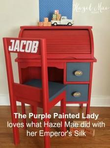 Emperors silk The Purple Painted Lady Hazel Mae Home 2016 B