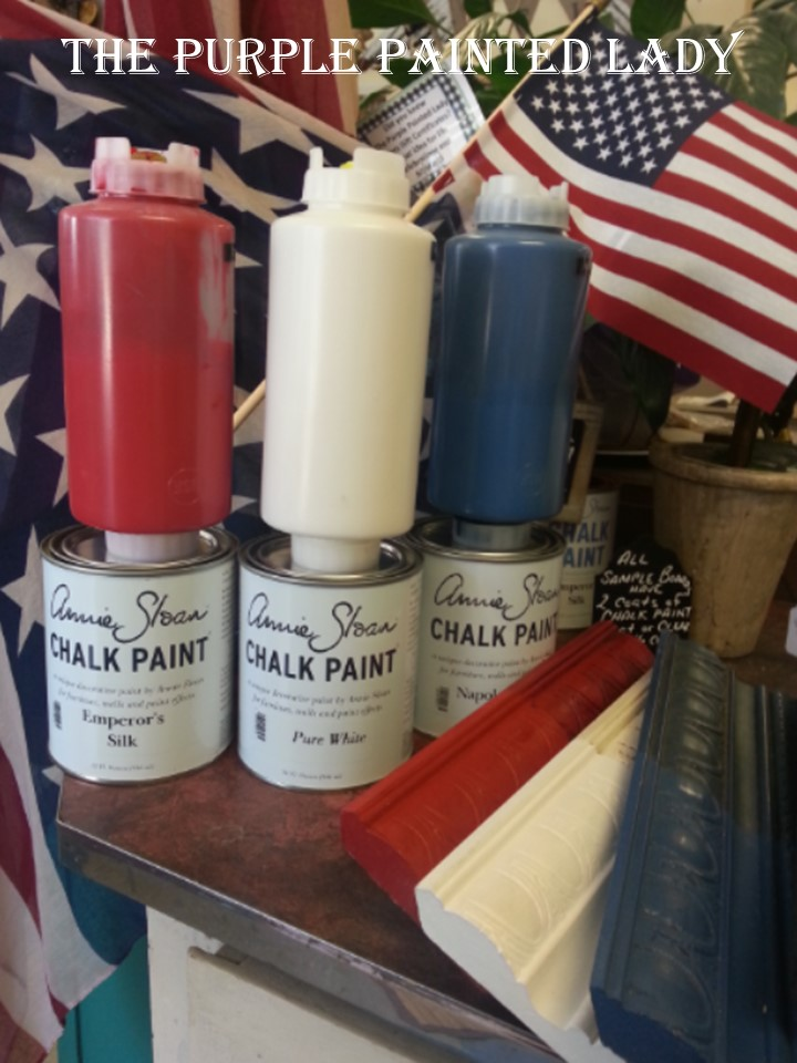 Happy Memorial Day Chalk Paint The purple painted lady
