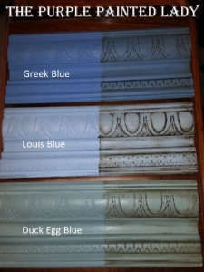 Louis Blue Duck Egg Blue Greek Blue The Purple Painted Lady Comparison