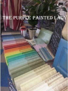 The Purple Painted Lady Sample Board Spread