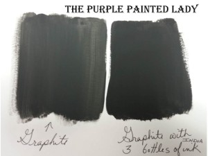 Graphite India Ink Paper swatch