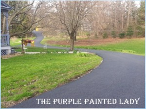 The Purple painted Lady paved driveway home