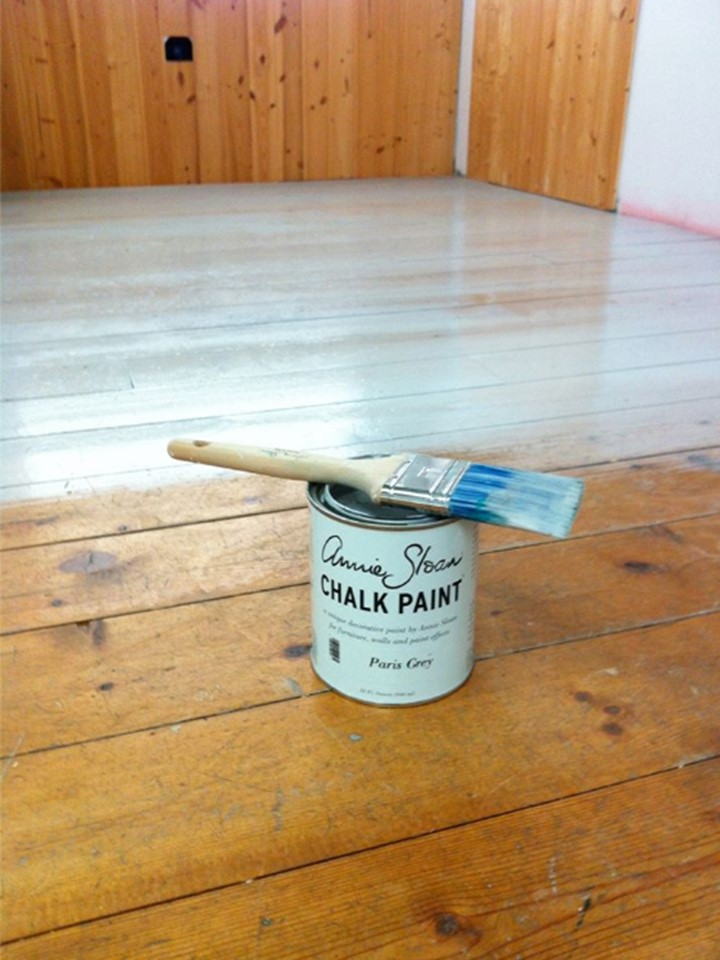 Chalk Paint On A Floor With Annies Lacquer For Protection The