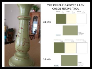 Picmonkey Chalk Paint The purple Painted Lady Color mixing tool Chateau Grey