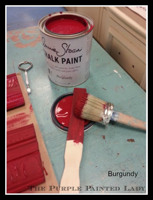 Burgundy color change The Purple Painted Lady Chalk Paint