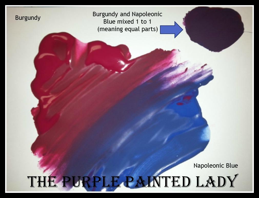 Burgundy picmonkey Napoleonic Blue  Custom blend recipe The Purple Painted Lady Chalk Paint  Purple